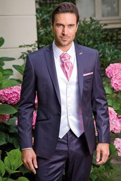 johann - Costume 3 pièces Marine & Rose Wedding Men, Wedding Groom, Costume Marie Bleu, Men's Tuxedo Styles, Groom Outfit, Groom Style, Men Looks, Well Dressed, Most Beautiful
