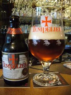 Tempelier, brewery Corsendonck, Belgium 6% 5/10, not a bad beer but it lacks alot of flavor, a little watery and that is really a disappointment when you know the beer is refermented in the bottle.