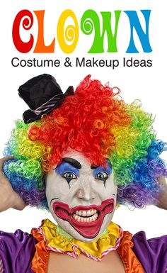 Clown costume and makeup ideas from Wholesale Halloween Costumes.