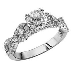 Double Infinity Diamond Engagement Ring