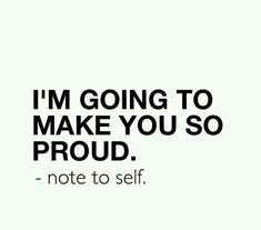 A note to self