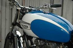 Our 1971 Triumph Trophy project bike at completion. (Motorcycle Classics September/October part 4 of Motorcycle Tank, Scrambler Motorcycle, Triumph Bonneville, Easy Rider, Old Bikes, Triumph Motorcycles, Vroom Vroom, Paint Ideas, Motorbikes
