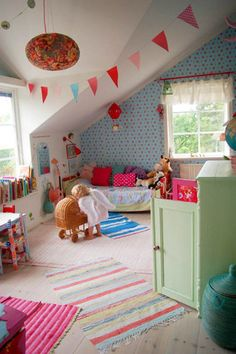 perfect whimsical playroom -- one day when i am a parent I will make cool places like this for our kids to hang out