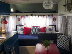 Vintage Camper Makeover - Travel Trailer Decorating Ideas - This is my camper model!!! Finally! Never see one anywhere!