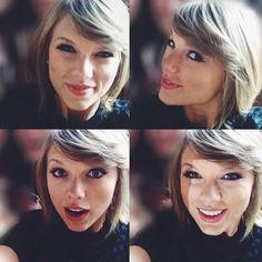 Taylor is taking selfies