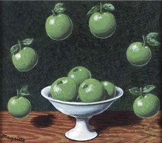 Le principe d'Archimède by René Magritte, 1952. Gouache on paper laid down on board, 6 ⅛ x 7 ⅛ inches.