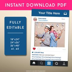 PDF Instagram Style Frame Photo Prop Instagram Sign by FrameMonkey
