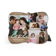 Rustic Love Desktop Plaque, Bracket, 8 x 10 inches, Brown
