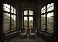 A vast abandoned manor house, interior -andre govia