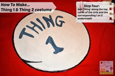 How To Make... Thing 1 and Thing 2 costume - Boo Roo and Tigger Too
