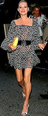 kate moss | topshop dress + alaia belt + manolo blahnik zebra sandals