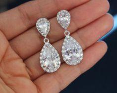 Emerald Green Earrings bridal green jewelry wedding earring