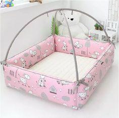包邮韩国原装进口正品AIBOY100%纯手工艺婴儿游戏床/韩国婴儿床