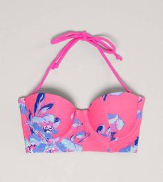 AE Floral Corset Bikini Top  want!!!!!!