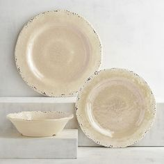 You'll never stray far from the shore with our beach-colored dinnerware. Crafted in the style of hand-thrown Italian stoneware, our Carmelo Collection is deceptively lightweight. It's made from melamine, so it's easy to handle and care for. Set it out for an outdoor party, indoor dinners or just for everyday use. However you use it, this collection will prove that neutrals can stand out. Outdoor Dinnerware, Melamine Dinnerware, Tableware, Patio Furniture Sets, Furniture Sale, Cabin Kitchens, Stoneware, Plates, Handle