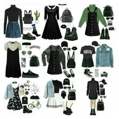 Fashion Tips Pear Shape .Fashion Tips Pear Shape Edgy Outfits, Retro Outfits, Grunge Outfits, Grunge Fashion, Cute Fashion, Teen Fashion, Vintage Outfits, Cool Outfits, Vintage Fashion