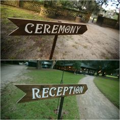 Wood Arrow Wedding Sign