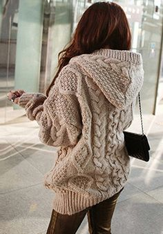 Light Brown Sweater Coat - Outwears and Jackets