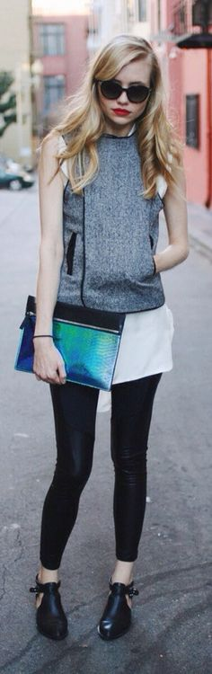 Amatoria Asymmetric Wool Vest $238.00  #longleggedlady