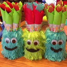 Mason Jar Monsters Birthday party monster or decorate for Christmas or some other occasion.