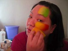 Blending Colors with a Sponge - Face Painting Tutorial - YouTube
