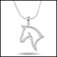 Cute Hollow Out Horse Metal Necklace & Pendants For Women gift