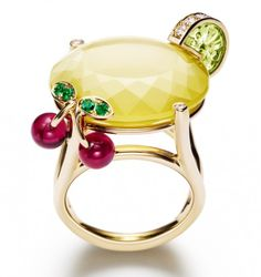 Piaget Limelight Cocktain ring - Lemon Fizz - Found on Highsnobette