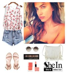 """""""Shein 8."""" by amra-f ❤ liked on Polyvore featuring even&odd, Linda Farrow, Forever 21, NYX and Nails Inc."""