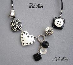 Button & Thimble necklace..