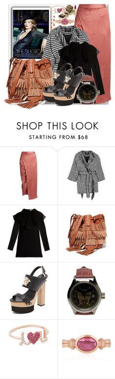 """Look Fabulous in Silk Blouses & Gathered Skirt"" by stylediva20 on Polyvore featuring Sies Marjan, Raoul, Nina Ricci, See by Chloé, Versace, John Isaac, Sydney Evan and Deepa Gurnani"