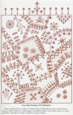 Pattern of stitches