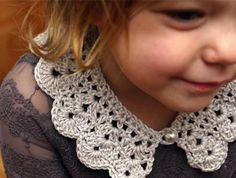 How-To: Crocheted Kids Collar  Que coisa mais Chuchureca! Amei!! <3