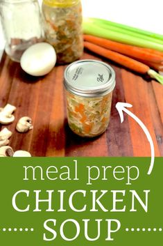 New meal prep recipes make life so much easier - so give this meal prep chicken and mushrooms soup a try! It's comforting, hearty, and can be stored in mason jars for a convenient grab-and-go lunch throughout the week. Best Mushroom Soup, Mushroom Side Dishes, Best Mushroom Recipe, Mushroom Soup Recipes, Lunch Meal Prep, Healthy Meal Prep, Chicken Meal Prep, Chicken Soup, Chicken Recipes