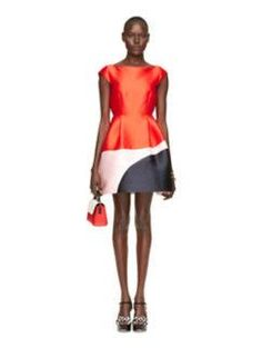 colorblock fit and flare dress by kate spade new york
