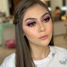 festival makeup – Hair and beauty tips, tricks and tutorials Glam Makeup, Girls Makeup, Bridal Makeup, Wedding Makeup, Hair Makeup, Beauty Make-up, Beauty Hacks, Hair Beauty, Make Up Looks