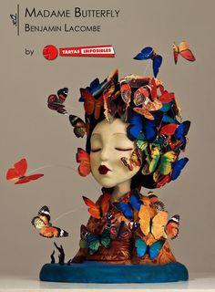 Madame Butterfly (Primavera con arte collab) - Cake by Tartas Imposibles - CakesDecor