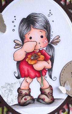 Sneezing Tilda Copic Coloring Card Kit