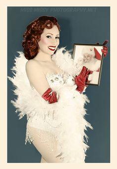 #MissMissyPhotography #OldHollywood #Burlesque #Pinup #PinupGlamour https://www.instagram.com/missmissyphoto/ #Vintage #Pinupgirl #SantaBaby #Santa #Christmas