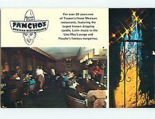 Unused Pre-1980 PANCHO'S MEXICAN RESTAURANT Tucson Arizona AZ s0632