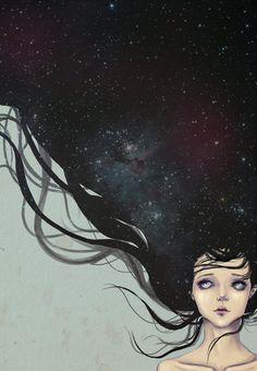 With Stars in her hair