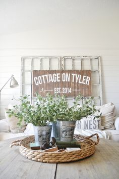 Cottage-on-Sparrow sign (from Liz Marie Blog)