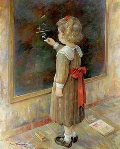 Trouble with Math in a One-Room Country School - Josie Holford: Rattlebag and Rhubarb Art And Illustration, Old School House, School Days, Country School, School Images, Vintage School, Cute Images, Vintage Children, Cute Drawings