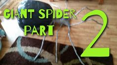 Finishing my homemade giant spider. This spider was made with a garbage bags, coat hangers, newspaper, electrical tape and duct tape. Haunted Props, Giant Spider, Electrical Tape, Homemade, Home Made, Hand Made