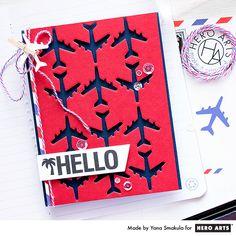 June 2016 My Monthly Hero - Hello Travel Card by Yana Smakula for Hero Arts
