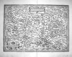 A dated 1599 engraved map of Transylvania.