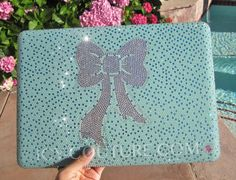 ICY COUTURE New Tiffany Blue Swarovski Macbook Pro cover case. Bling Your Laptop!