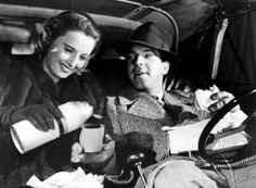 Barbara Stanwyck & Fred MacMurray on a road trip in REMEMBER THE NIGHT (1940)
