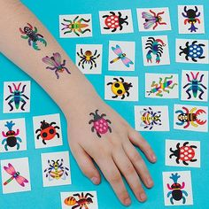 Insect Bugs Creepy Crawlies Temporary Kid's Tattoos Party Bag Filler Games Prizes - Pack of 36