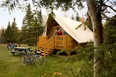 Parks Canada are installing new tent-cabins - oTENTik - at various national parks across the country.
