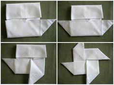 Doblado de servilletas: Molinillo de viento